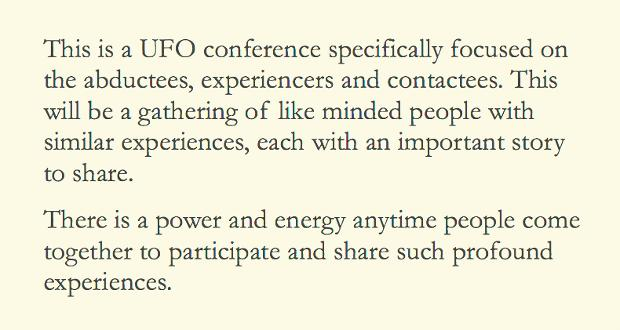 Experiencers Speak is brought to you by Starborn Support, and Northeast UFO conferences